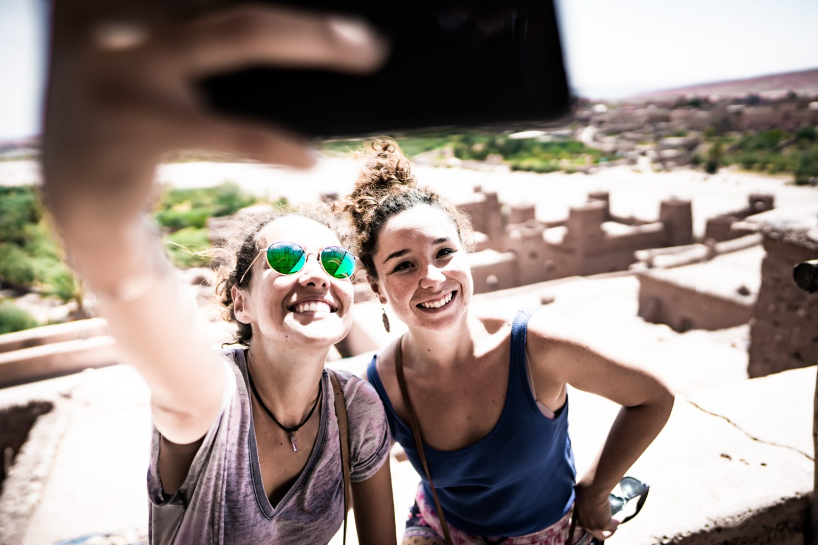 Selfies in morocco