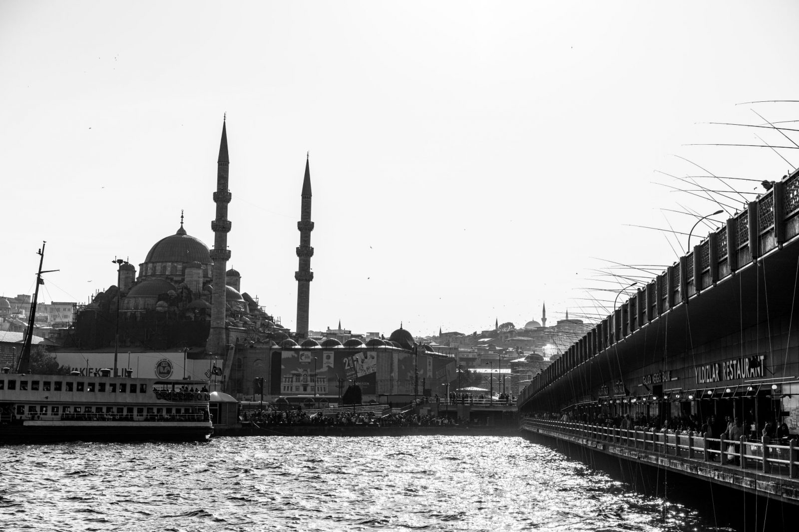 Istanbul bridge and mosque photography